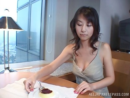 Titty fucking a hot Japanese slut and getting head