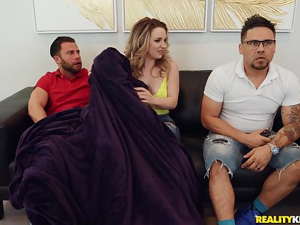 Kate Kennedy blowing a friend's penis before hard sex from behind