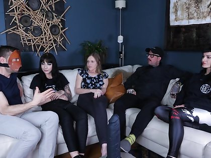 Rebel and her friends have a discussion about sex games and BDSM