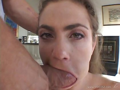Sweet porn chick in a huge dick ride and naughty blowjob action