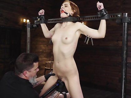 Brave Maya Kendrick want to try all sex machines and BDSM games