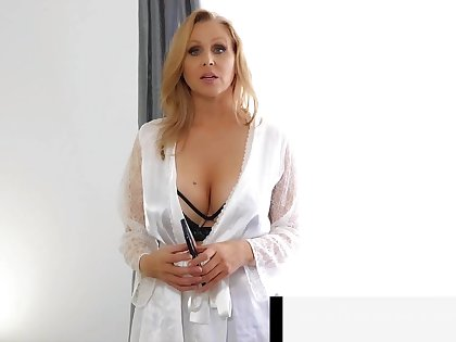 Step-Mom Julia Ann Stuffs Her Muff With Step-Son'_s Cock!