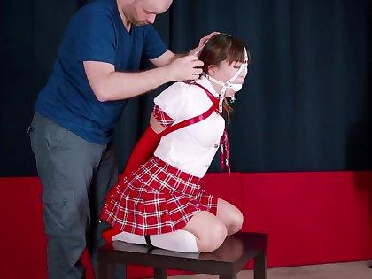 RS red schoolgirl armbinder