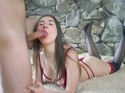 FUCKED AN ESCORT GIRL BEFORE LEAVING FOR THE ARMY - CUM ON PANTIES