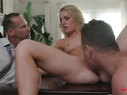 Sexy Kate Kennedy licked and dicked in front of a cuckold