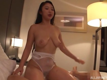 Drawing Japanese cutie Honma Yuri loves getting massaged together with fucked