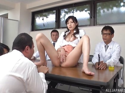 Desirable Japanese model Sara Yurikawa moans for ages c in depth sucking a learn of