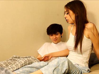 Derisory older brother seduces sister