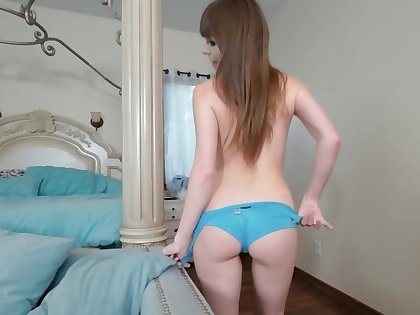 Little shaver can't even imagine that he will penetrate stepsister's pussy
